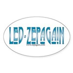 Led Zepagain Oval Sticker