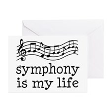 Symphony is My Life Music Gift Greeting Cards (Pk
