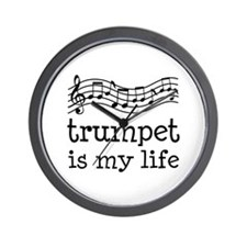 Trumpet is My Life Music Gift Wall Clock