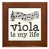 Viola is My Life Music Gift Framed Tile