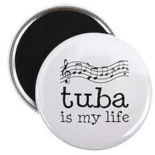 Tuba is My Life Music Gift Magnet