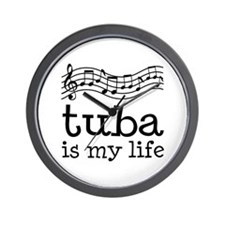 Tuba is My Life Music Gift Wall Clock
