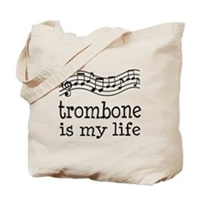 Trombone is My Life Music Gift Tote Bag