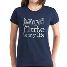 Flute is My Life Music Gift Tee