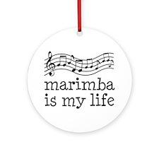 Marimba is My Life Music Gift Ornament (Round)
