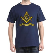 Masonic Faith Hope Charity Emblem Fitted T-Shirt