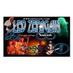 Led Zepagain Rectangle Sticker