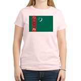 Flag of Turkmenistan Women's Pink T-Shirt