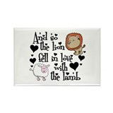 Lion fell in love with lamb Rectangle Magnet