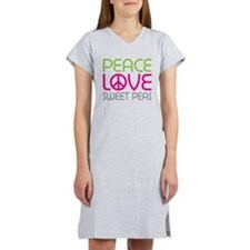 Peace Love Sweet Peas Women's Nightshirt