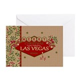 Las Vegas Christmas Greeting Cards (Pk of 10)