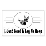 Hump Rectangle Sticker