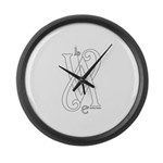 Love White Large Wall Clock