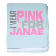 I wear pink for Janae baby blanket