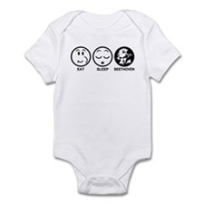 Eat Sleep Beethoven Infant Bodysuit