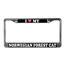 I Heart Norwegian Forest Cat License Plate Frame