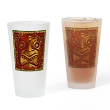 Gold Tiki Pot Drinking Glass