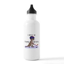 I Otter Be Playing Hockey Water Bottle