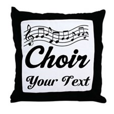 Custom Choir Musical Throw Pillow
