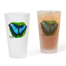 Blue Morpho Butterfly Drinking Glass