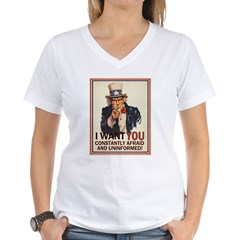Afraid & Uniformed Women's V-Neck T-Shirt