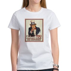 Afraid & Uniformed Women's T-Shirt