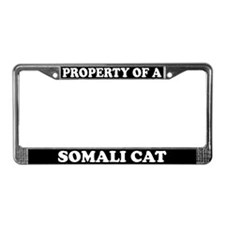 Property Of A Somali Cat License Plate Frame