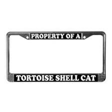 Property Of Tortoise Shell Cat License Plate Frame