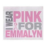 I wear pink for Emmalyn Throw Blanket