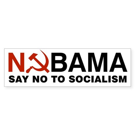 No Socialism Sticker (Bumper)