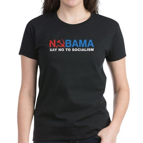 No Socialism Women's Dark T-Shirt