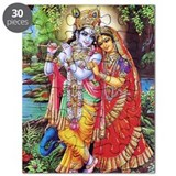 Radha Krishna With Flute Puzzle