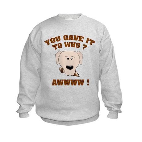 Give it to who ? Kids Sweatshirt