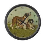 Saint Bernard Large Wall Clock