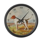 Foxhound Large Wall Clock