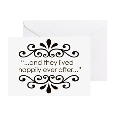 'Happily Ever After' Greeting Cards (Pk of 10)