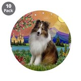 "Sheltie in Fantasy Land 3.5"" Button (10 pack)"