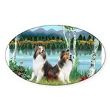 Birches / 2 Shelties Decal