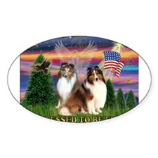 Blessed (#2) with 2 Shelties Decal