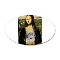 Mona & SHih Tzu (#17) 22x14 Oval Wall Peel