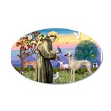 Saint Francis &amp;amp; Sloughi 22x14 Oval Wall Peel
