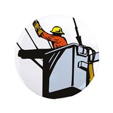 "power lineman repairman 3.5"" Button (100 pack)"