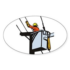 power lineman repairman Decal