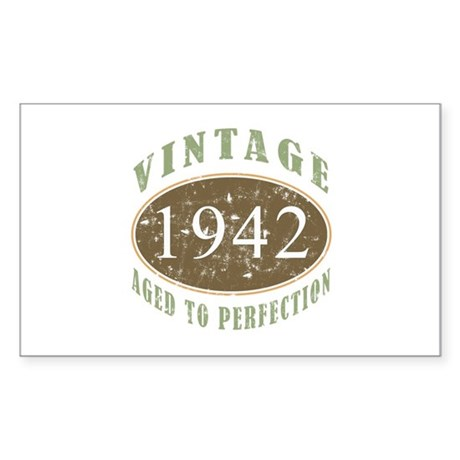 Vintage 1942 Aged To Perfection Sticker (Rectangle