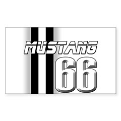 Mustang 66 Sticker (Rectangle)