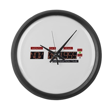 Back to Nov 5 1955 T-Shirt Large Wall Clock