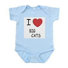 I heart big cats Infant Bodysuit