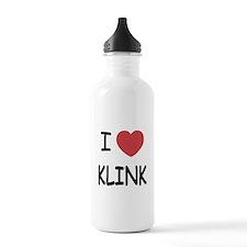 I heart klink Water Bottle
