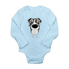 Big Nose Aussie Long Sleeve Infant Bodysuit