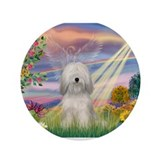Cloud Angel &amp;amp; Tibetan Terrier 3.5&amp;quot; Button